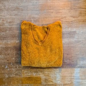 Forever21 ⋆ Mustard Chenille Cropped Hoodie ⋆⚝
